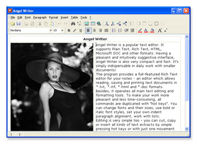 Angel Writer is a free text editor allowing you to create impressive documents.