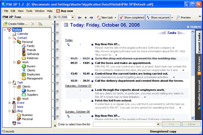 PIM XP Screen shot